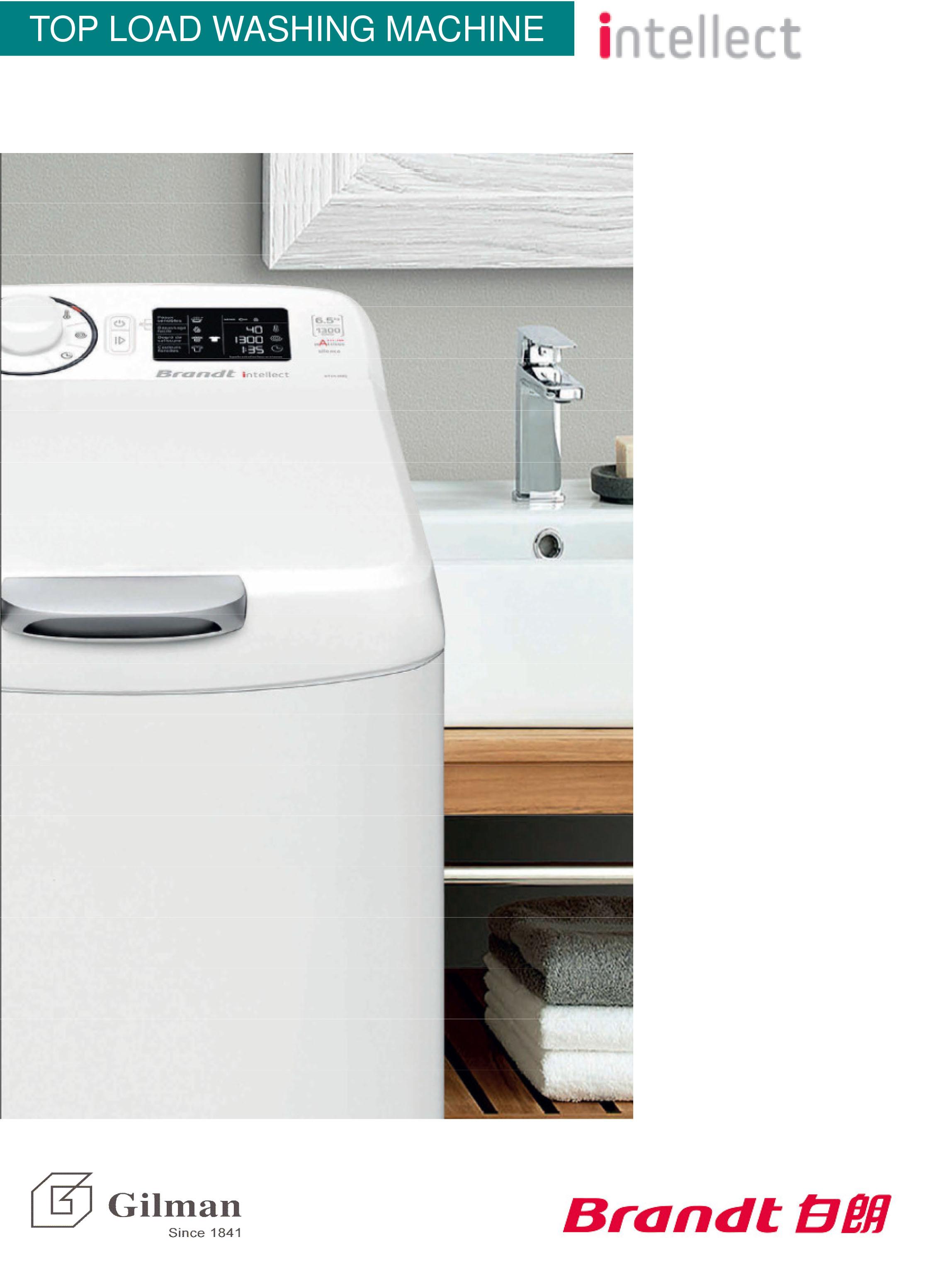 Brandt 白朗bt608la 60公斤800轉上置式洗衣機 Check價